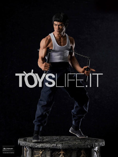 Blitzway Way Of The Dragon Bruce Lee Tribute 1:4 Superb Scale Bonus Statue