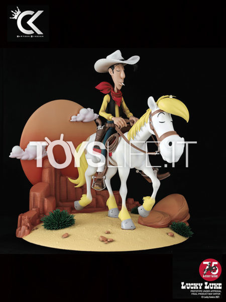 Cartoon Kingdom Lucky Luke & Jolly Jumper 1:6 75th Anniversary Statue