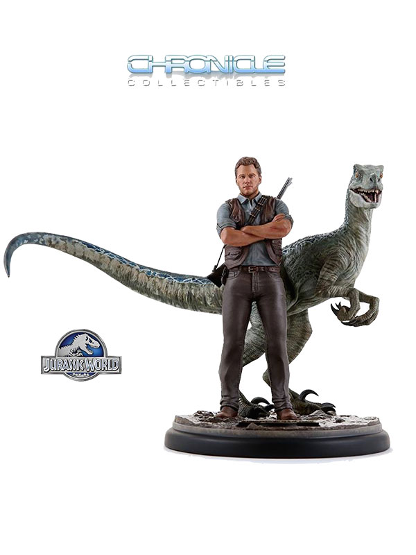 Chronicle Collectibles Jurassik World Owen & Blue Statue