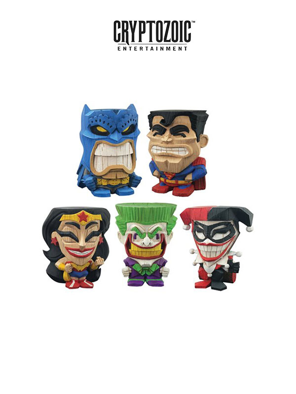 Cryptozoic Entertainment DC Teekeez Batman Joker Harley Superman & Wonder Woman
