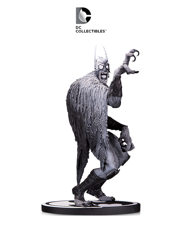 DC Batman Black & White Batmonster Statue by Greg Capullo