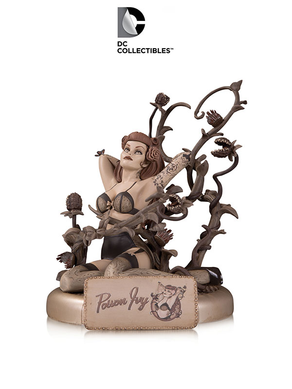 DC Bombshells Poison Ivy Sepia Variant Statue