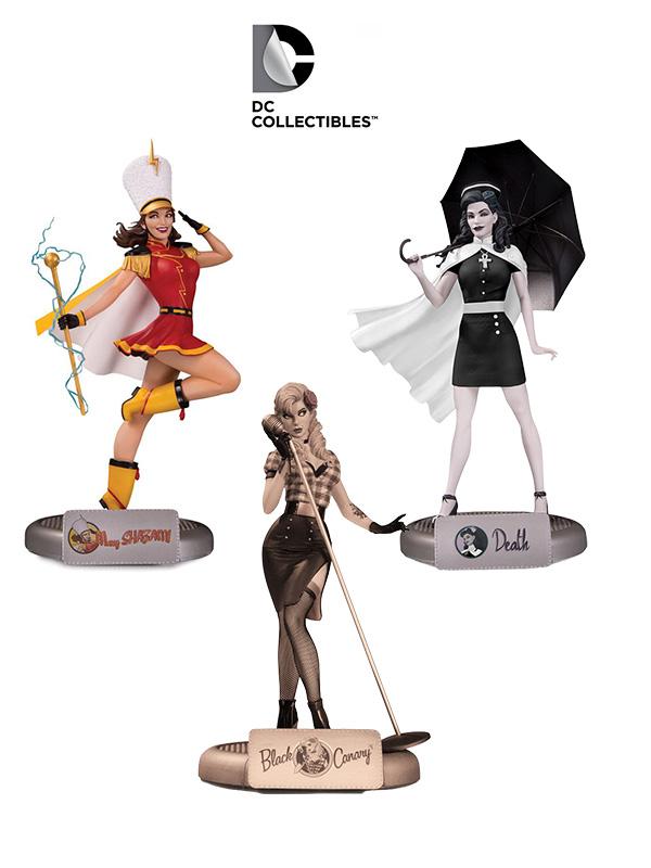 DC Bombshells Mary Shazam/Death/Black Canary Sepia Variant Statue