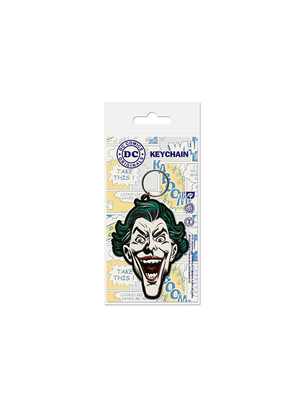 Dc Comics The Joker Rubber Keychain Portachiavi