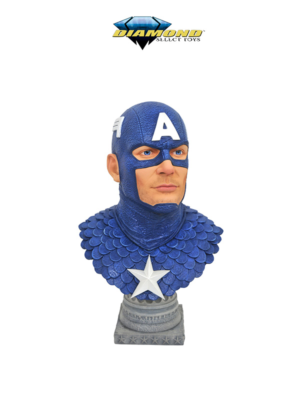 Diamond Select Marvel Legends in 3D Bust Captain America 1:2 Bust