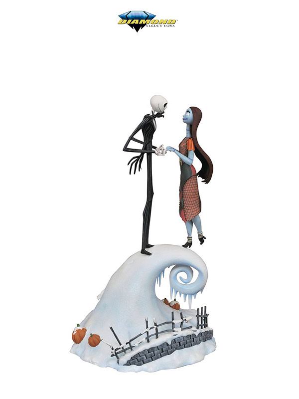 Diamond Milestones Disney Nightmare Before Christmas Jack & Sally Statue
