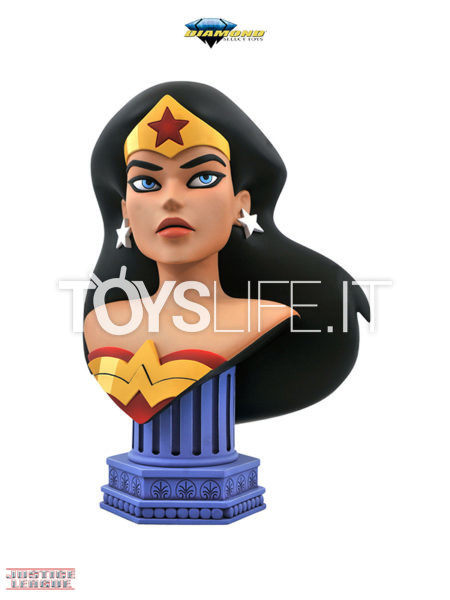 Diamond Select Legends In 3D DC Justice League Animated Wonder Woman 1:2 Bust