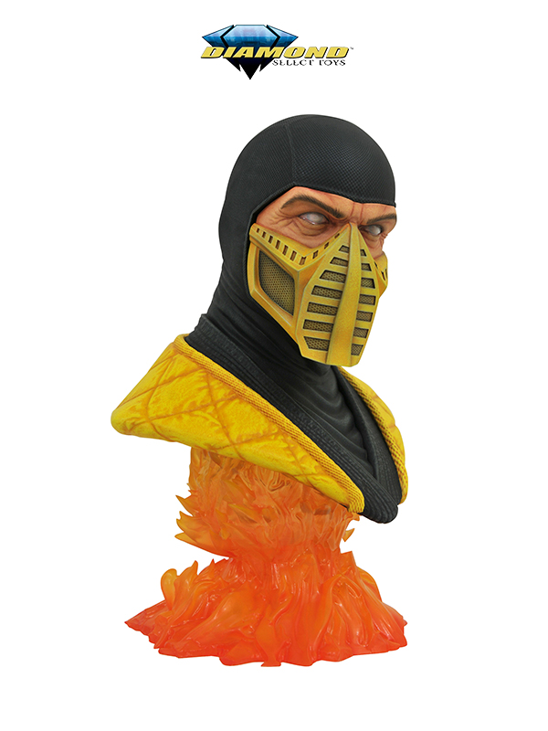 Diamond Select Legends in 3D Mortal Kombat Scorpion 1:2 Bust