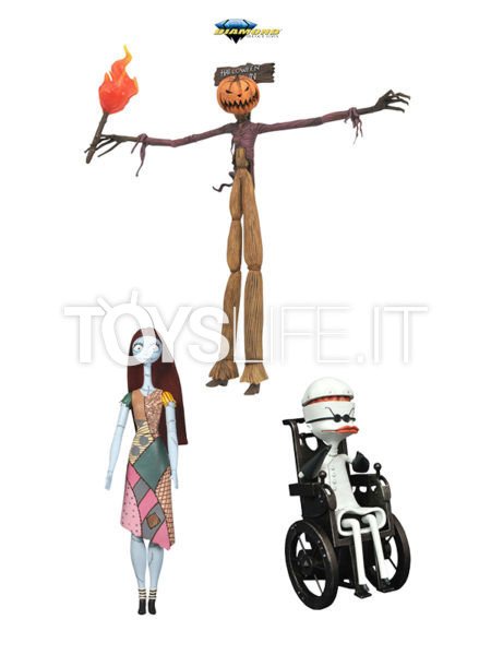 Diamond Select Nightmare before Christmas Pumpkin King Jack/ Sally/ Dr. Finkelstein Select Best Of Series 2 Figure