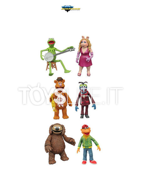 Diamond Select The Muppets Best of Series 1 Kermit & Miss Piggy/ Gonzo & Fozzie/ Scooter & Rowlf 2-Pack Figure