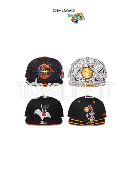 Difuzed Space Jam Bugs Bunny/Sylvester/ Mix Characters/ Tune Squad Snapback Cap