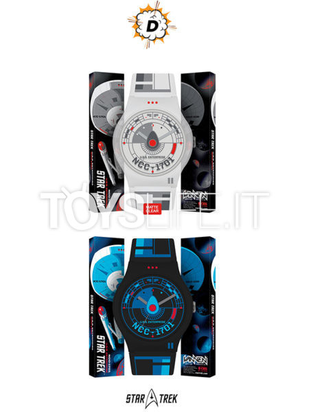 Disburst Star Trek Vannen USS Enterprise 1701 White/Black Watch