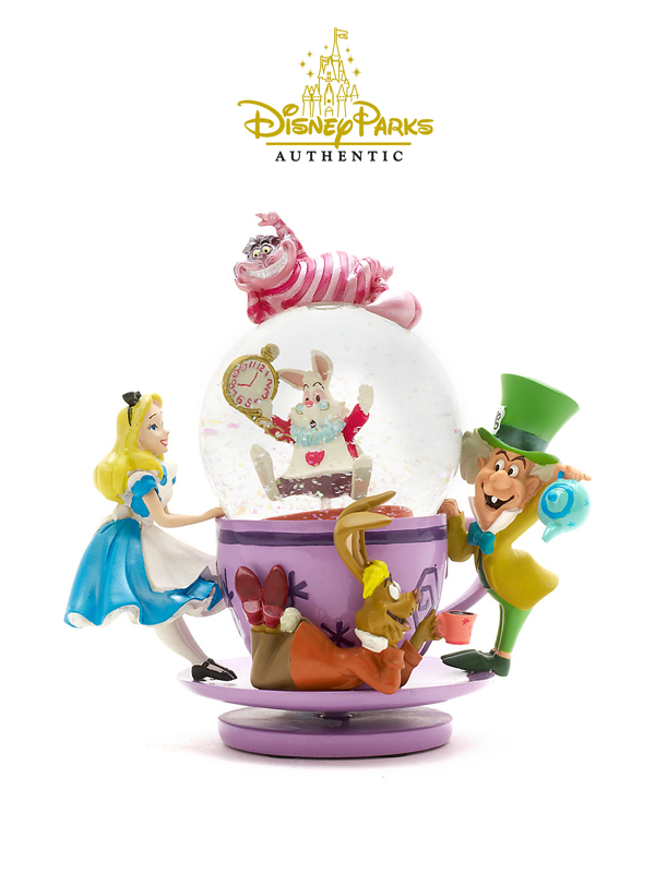 Disneyparks Authentic Alice in Wonderland Tea Cup Snowglobe