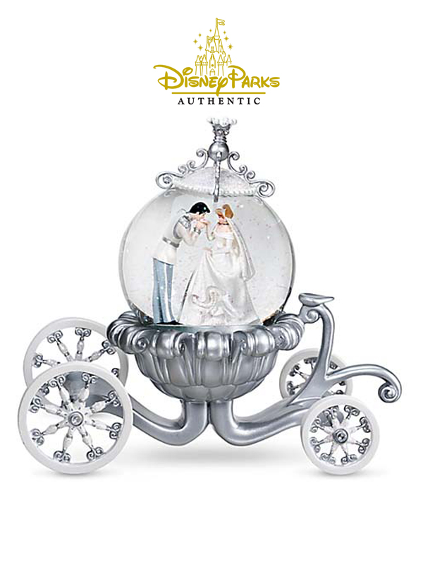 Disneyparks Authentic Cinderella Carriage Cenerentola Snowglobe
