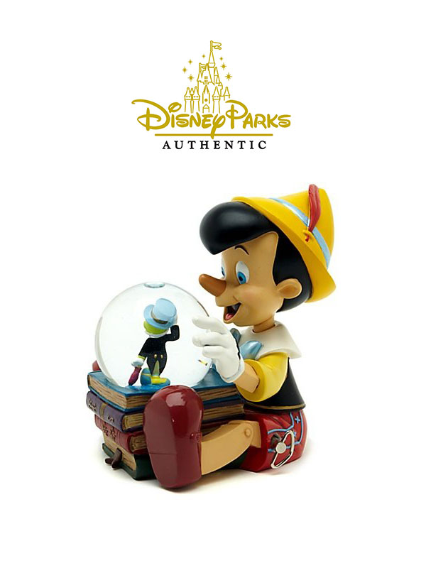 Disneypark Authentic Pinocchio & Jiminy Snowglobe