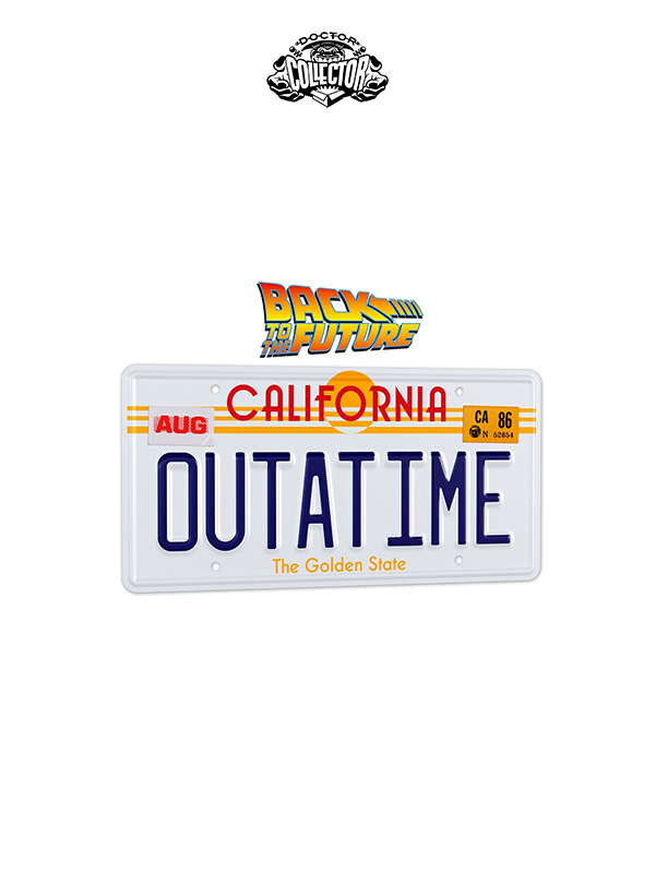 Doctor Collector Back To The Future DeLorean Metal Plate 1:1 Replica