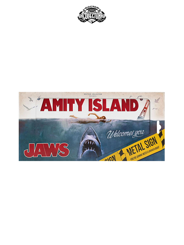 Doctor Collector Jaws Lo Squalo Metal Sign Movie Poster