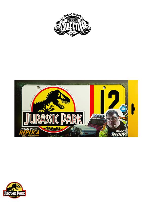 Doctor Collector Jurassic Park Dennis Nedry License Metal Plate Replica
