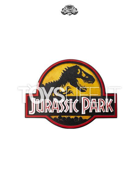 Doctor Collector Jurassic Park 46x31 Metal Sign Logo