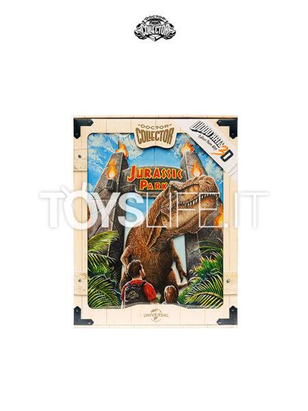 Doctor Collector Jurassic Park T-Rex Attack Wood Wall Art