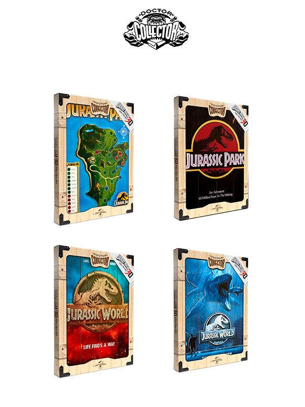 Doctor Collector Wood Art 3D Jurassic Park/Jurassic World