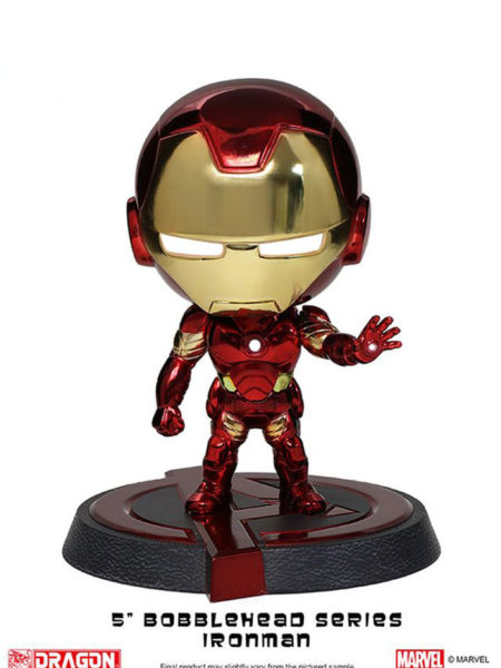 Dragon Models Avengers Age Of Ultron Ironman Mark XLIII Chrome Bubble-Head