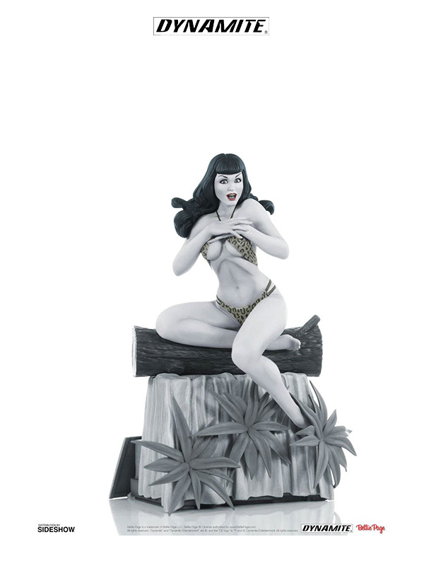 Dynamite Women of Dynamite Statue Bettie Page Black & White Edition Statue
