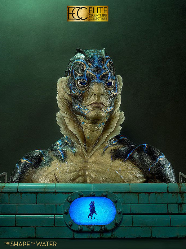 Elite Creature Collectibles The Shape of Water Amphibian Man 1:1 Bust