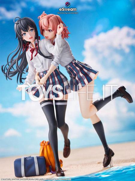 Estream My Teen Romantic Comedy SNAFU Completion Yui Yuigahama & Yukino Yukinoshita 1:7 Pvc Statue