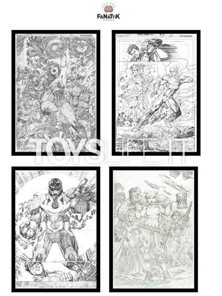 Fanattik DC Comics Darkseid/ Superman & Flash/ Wonder Woman/ Harley Quinn 42X30 Limited Art Print