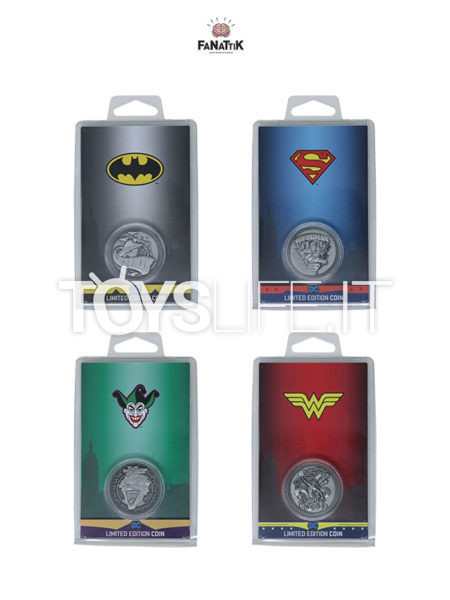 Fanattik DC Comics Batman/ Superman/ Wonder Woman/ Joker Limited Coin
