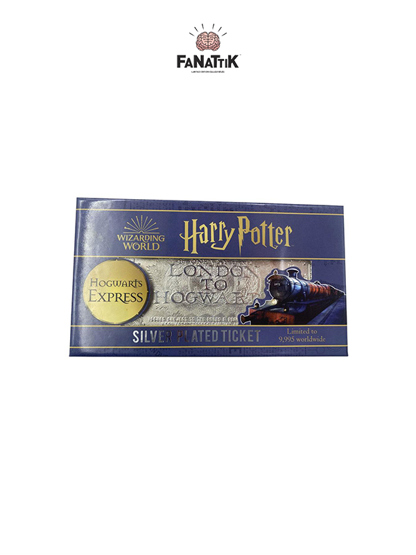 Fanattik Harry Potter Hogwarts Train Ticket Silver Plated 1:1 Replica Limited Edition