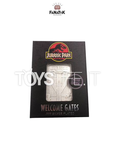 Fanattik Jurassic Park Entrance Gates Silver Plated Replica