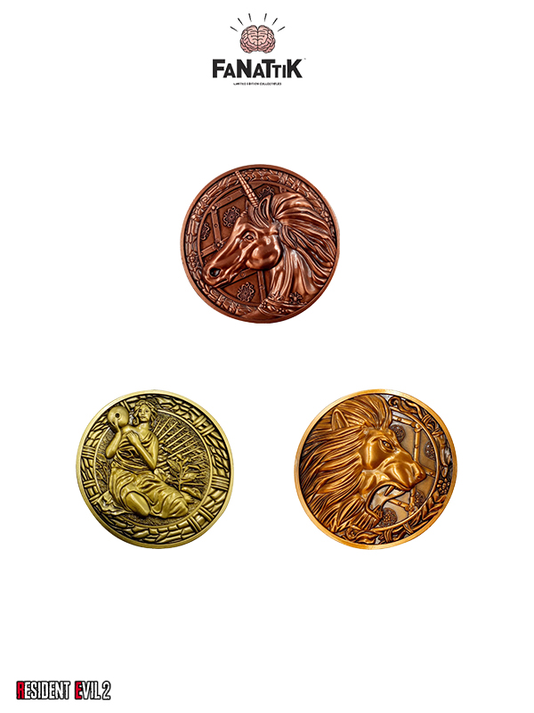 Fanattik Resident Evil 2 Lion/Unicorn/Maiden 1:1 Limited Medallion