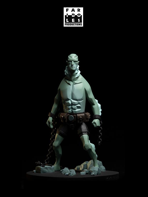 Fariboles Hellboy Abe Sapien 1:8 Statue By Mike Mignola