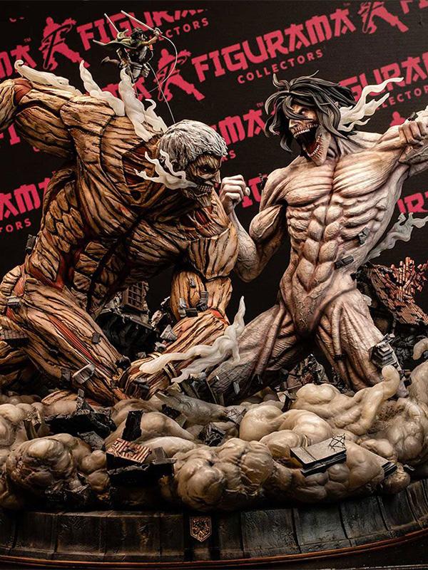 Figurama Attack on Titan Eren vs Armored Titan Elite Exclusive Statue 61 cm