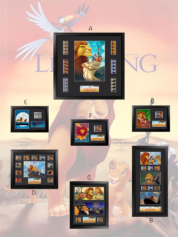 The Lion King Framed Film Cells 35mm