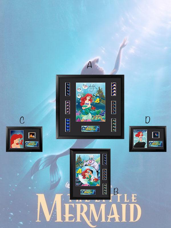 Disney The Little Mermaid Framed Film Cells 35mm