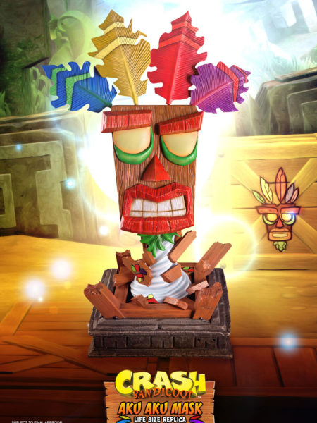First4Figures Crash Bandicoot Aku Aku Mask Lifesize Replica