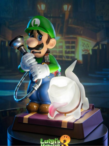 First4Figures Luigi's Mansion 3 Luigi & Polterpup Collector's Edition Pvc Statue