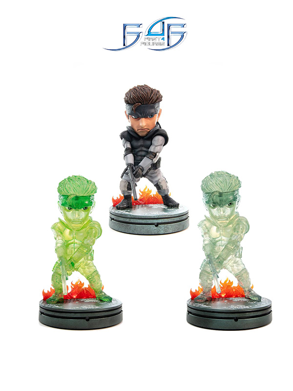 First4Figures Metal Gear Solid Solid Snake Normal/Stealth Camouflage/Neon Green Pvc Statue