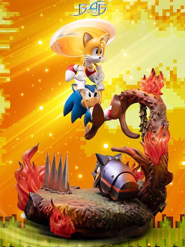 First4Figures Sonic the Hedgehog Sonic and Tails Statue