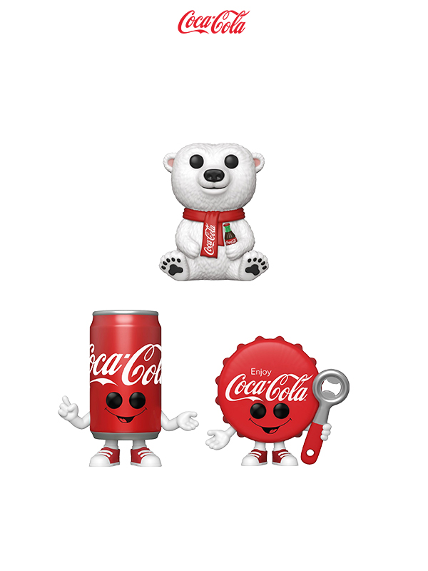 Funko Ad Icons Coca-Cola Bear/ Coca-Cola Bottle Cap/ Coca-Cola Can