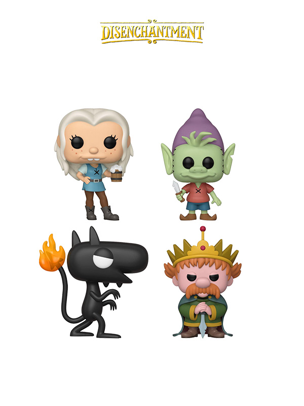 Funko Animation Disentchantment Elfo/Bean/Luci/King Zog