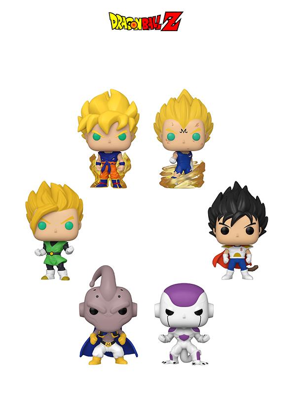 Funko Dragonball Z SS Goku 1st App./Majin Vegeta/ Frieza First Form/SS Gohan/ Child Vegeta/Evil Buu