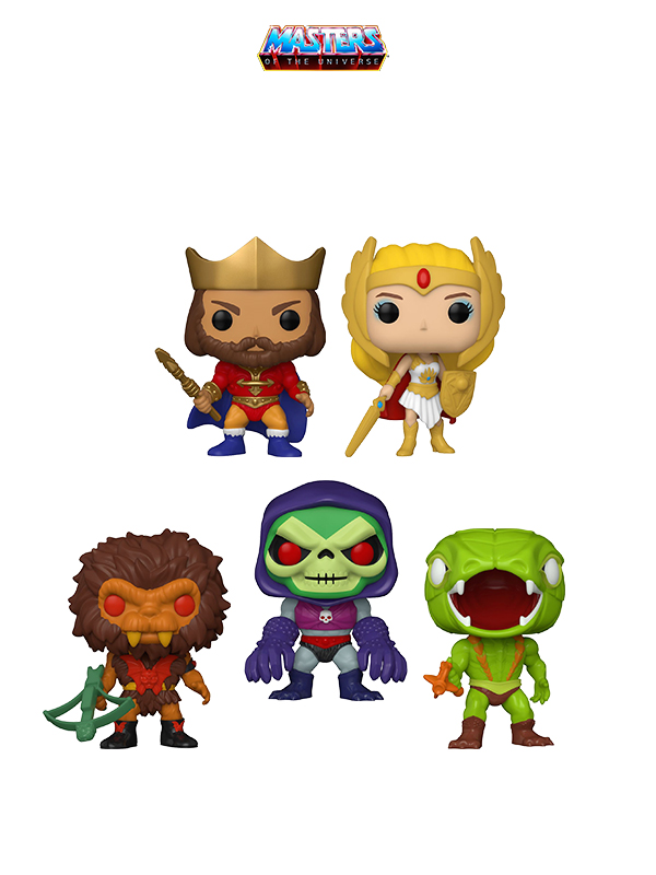 Funko Animation MOTU Classic She-ra/ King Randor/ Skeletor Terror Claws/ Cobra Khan/ Grizzlor