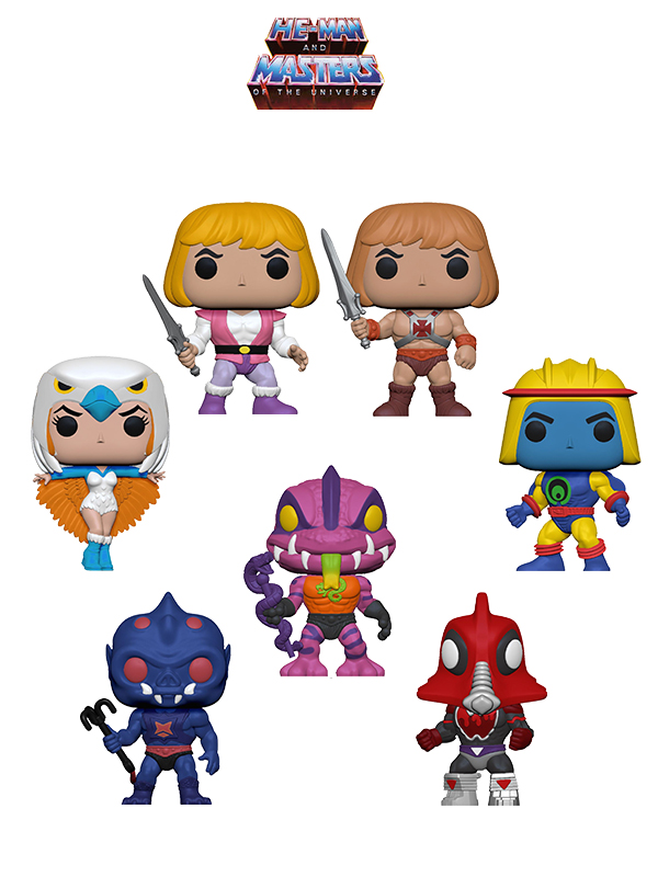 Funko Animation Masters Of The Universe Wave 2020 Prince Adam/ He-Man/ Sorceress/ Sy klone/ Mosquitor/ Tung Lasher/ Webstore