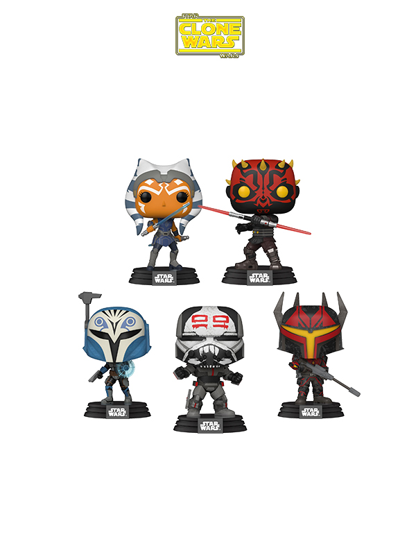 Funko Animation Star Wars The Clone Wars Ahsoka/ Darth Maul/ Katan Kryze/ Gar Saxon/ Wrecker