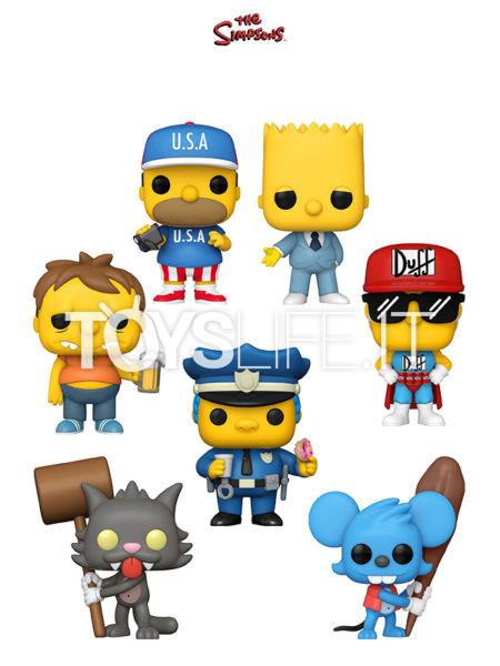 Funko Animation The Simpsons Usa Homer/ Mafia Bart/ Chief Wiggum/ Barney/ Duffman/ Itchy/ Scratchy