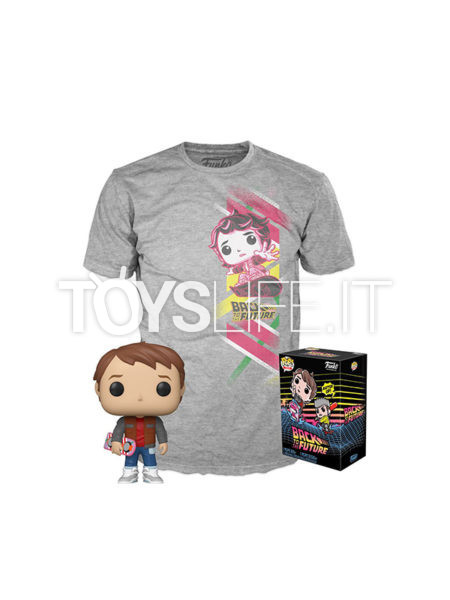 Funko Movies Back To The Future Marty Pop + Shirt Pack S-M-L-XL-XXL